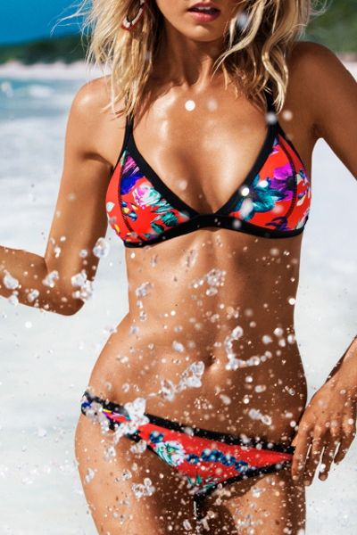 Cami Colorful Print Bikini Set