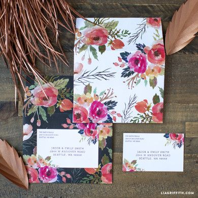 Floral Watercolor Gift Tags - Lia Griffith
