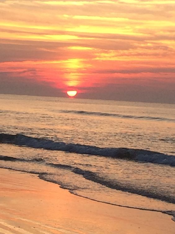 The ocean at sunrise