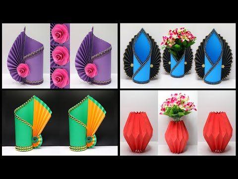 4 Ide Kreatif Vas Bunga Dari Kertas 4 Easy Tutorial Flower Vase
