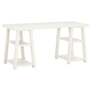 ... Customize-It Simple Trestle Desk #potterybarnteen - for craft table?
