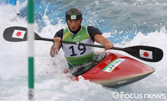 RIO DE JANEIRO, BRAZIL - AUGUST 10: Kazuki Yazawa of Japan competes during the Kayak (K1) Men's Semi-final on Day 5 of the Rio 2016 Olympic Games (2000×1223)