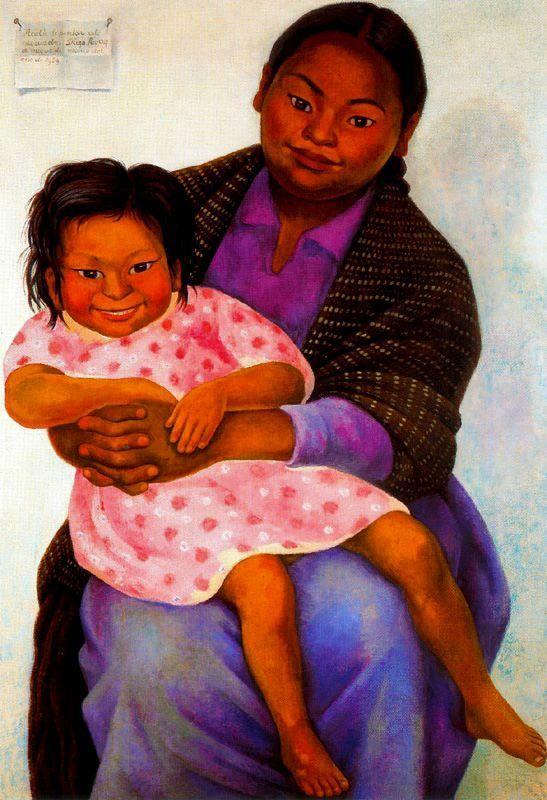 Portrait of Madesta and Inesita - Diego Rivera