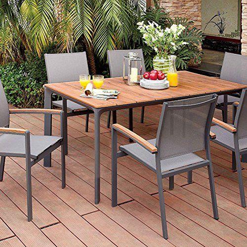 oshawa oak and gray patio dining table
