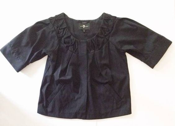 New Without Tags 7 For All Mankind Black 3/4 Sleeve Jacket-Size Small – The Closet Remix