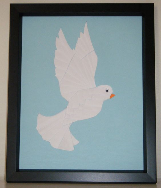 paper iris folding dove