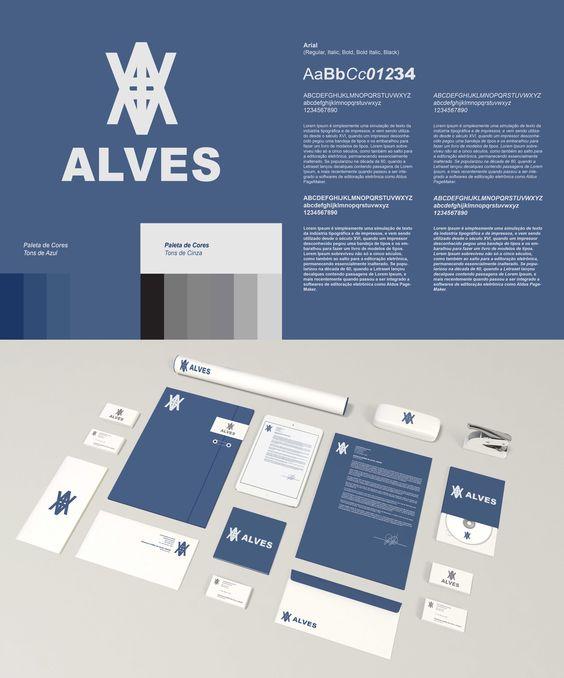 Trabalho Acadêmico: Identidade visual da empresa Alves (Designer: Douglas Junior)