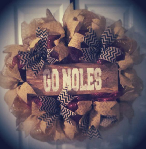 Check out this item in my Etsy shop https://www.etsy.com/listing/204648418/florida-state-seminoles-wreath-fsu