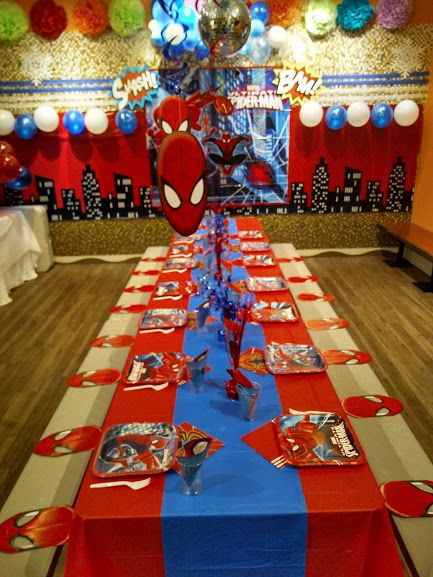 Jump 2 It Kelowna Spiderman Themed Kid S Birthday Party Spiderman Birthday Party Spiderman Birthday Party Decorations Wonder Woman Birthday Party