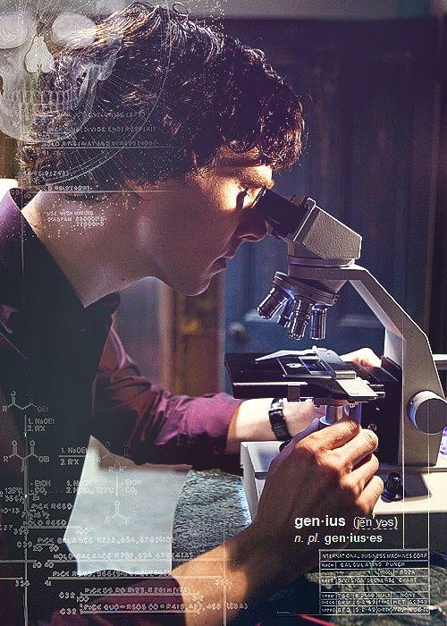 Sherlock, the often bored genius.---in the purple shirt of sex...
