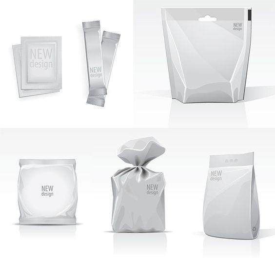 Blank bag template vector material | Free PSD MockUp | Pinterest ...