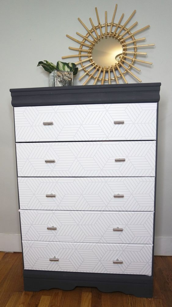 Easy Diy Upcycle Dresser Makeover Bedroom Furniture Makeover Wallpaper Furniture Furniture