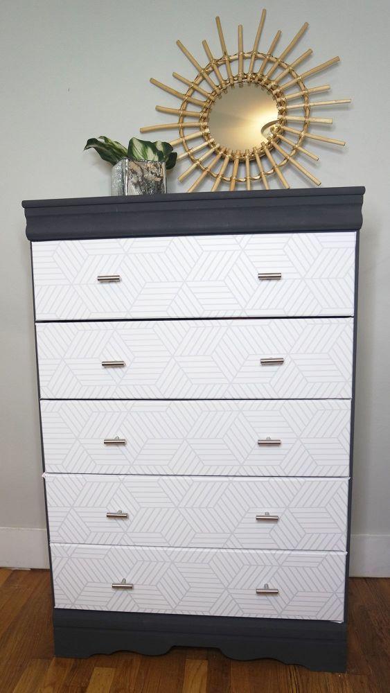 Peel And Stick Wallpaper Dresser