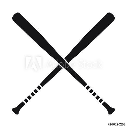 Baseball Crossed Bats Vector Illustration Isolated Icon In 2021 Bat Vector Vector Illustration Baseball Cross