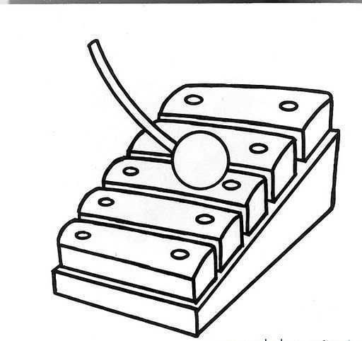 Preschool Xylophone Coloring Page In 2020 Kindergarten Coloring
