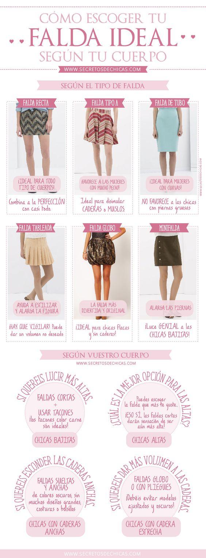 falda segun cuerpo