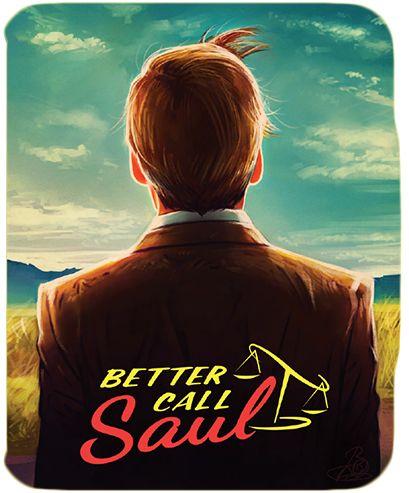 Edition Steelbox du Bluray de Better Call Saul. Fan Art gagnant du concours. Réalisé par Lisa B.: