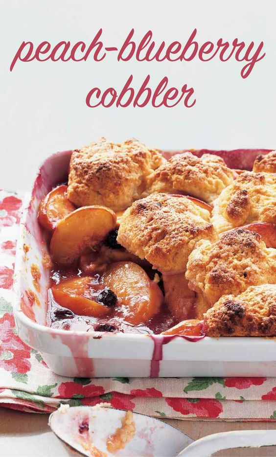 Peach-Blueberry Cobbler | Martha Stewart Living - Fresh peaches and ...