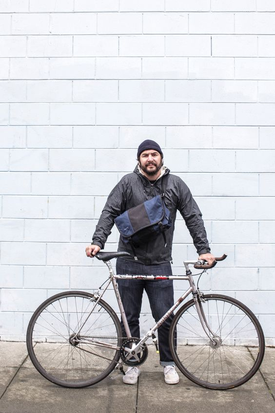 Ty at Timbuk2 says his life is #betteronabike because his body gets to move. Oof, we would agree! Too much sitting in a car can be killer!