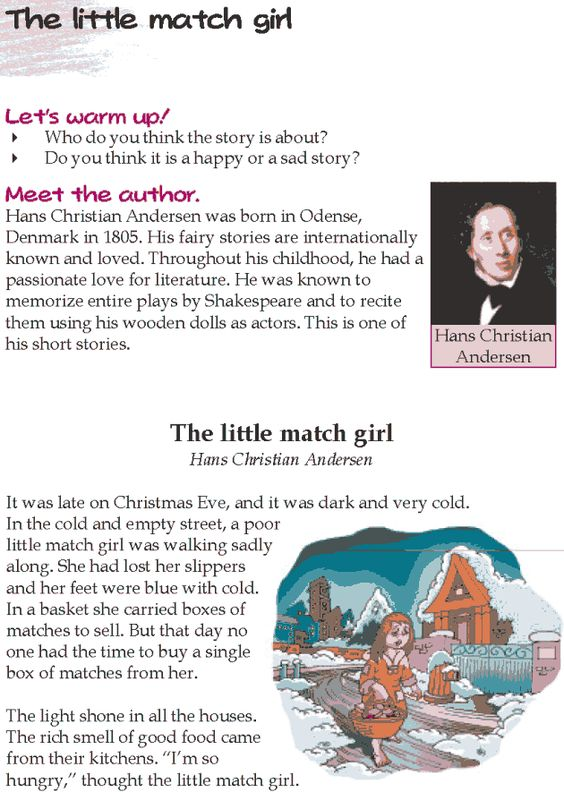 the little match girl essay Inspired by the beautiful and devastatingly sad hans christian andersen tale, the little match girl, and combining andersen's other tales, the princess and the pea, the emperor's new clothes and thumbelina, the little matchgirl and other happier tales reveals a spellbinding world of magic.