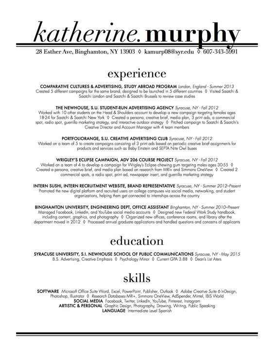 Free Creative Resume Template PSD - Free Creative Resume Template - radio program director resume