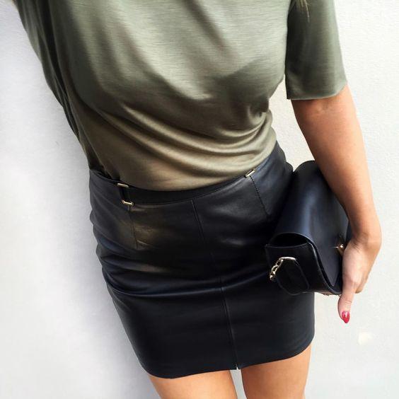 "TULIN COBAN på Instagram: ""Tonight wearing. Leather skirt by ..."