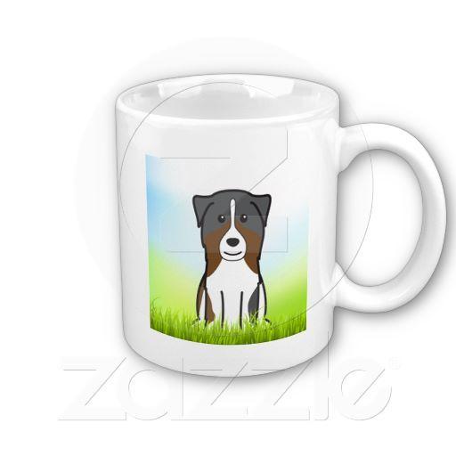 Australian Shepherd Dog Breed Cartoon Mug