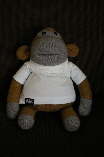made a PG tips monkey for my husband - the pattern is free on Ravelry