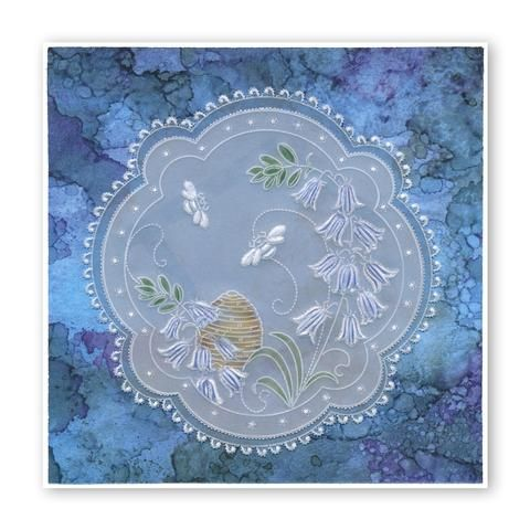 Clarity Stamps Groovi Parchment Embossing A6 Plate Barbara/'s Dragonflies