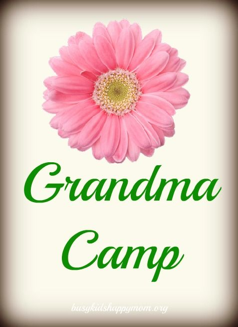 Grandma Camp - great ideas for Grandparents and grandchildren to play and make memories.