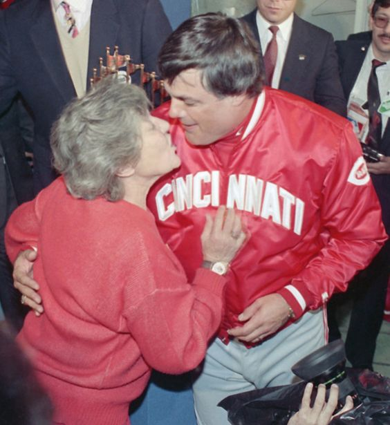 Marge Schott and Lou Piniella, 1990.