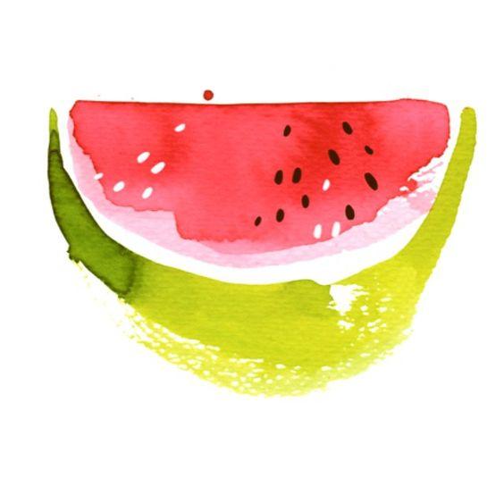 Mr. Yummy Watermelon Man wishes you a very nice sunny week! #illustration #watercolor #watermelon #watercolorwatermelonman #red #green #summer #sun #juicy #ekaterinakoroleva #berlin
