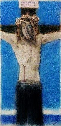 Fernand Khnopff,  Caritas Aeterna - Pastel, Museum voor Schone Kunsten - Gent, Belgium: