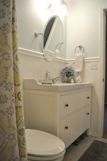 hallway bathroom, The vanity is from IKEA , Bathrooms Design ...