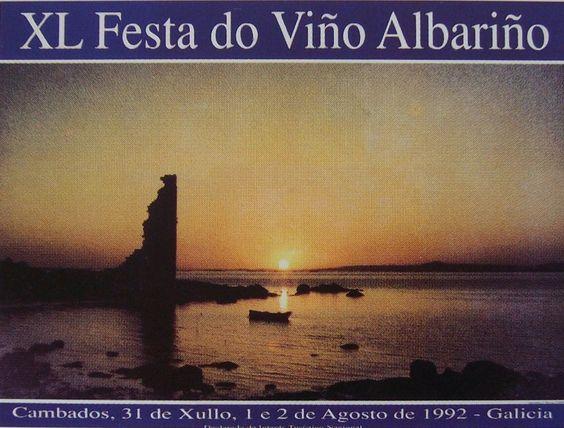 Fiesta del Albariño | Cartel oficial de la XL Fiesta del Vino Albariño 1992