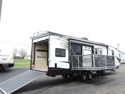 image result for toy haulers with side patio toyhauler