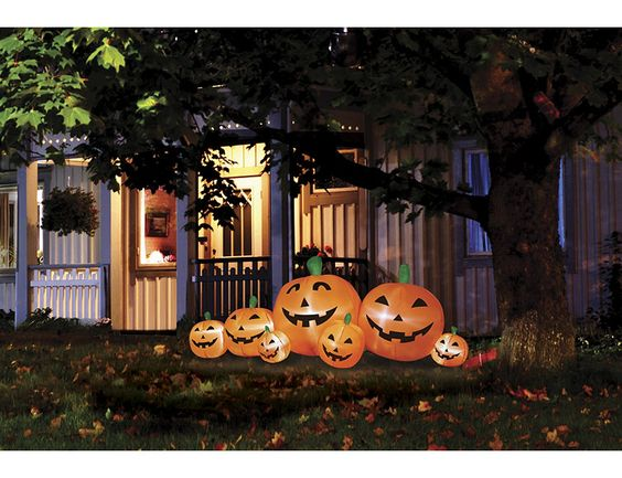 alcove 8' Inflatable Pumpkin Patch #halloween #gettington