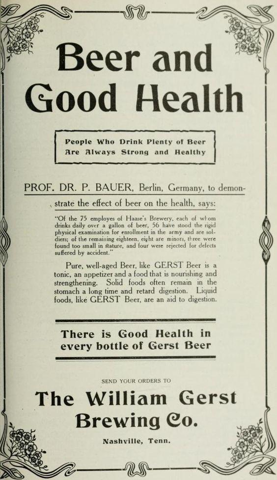 1900 Gerst beer ad