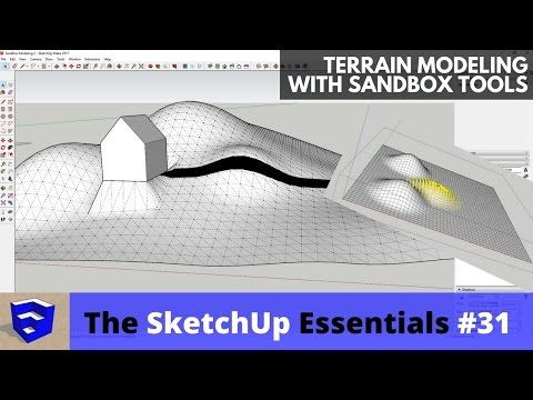 6 Terrain Modeling In Sketchup With Sandbox Tools The Sketchup