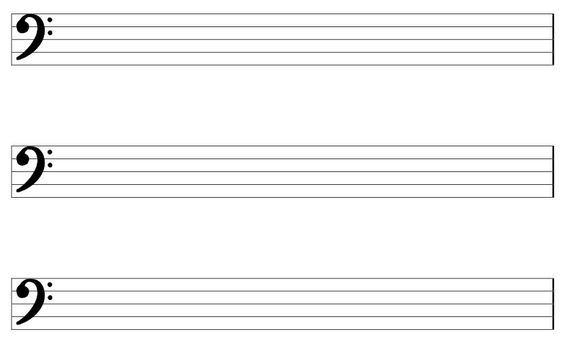staff paper bass clef template