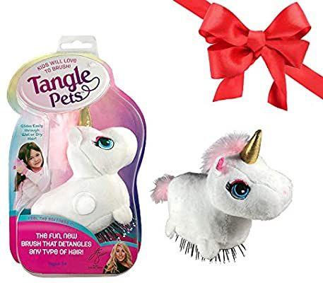 Tangle Pets Sparkles The Unicorn The Detangling Brush In A Plush