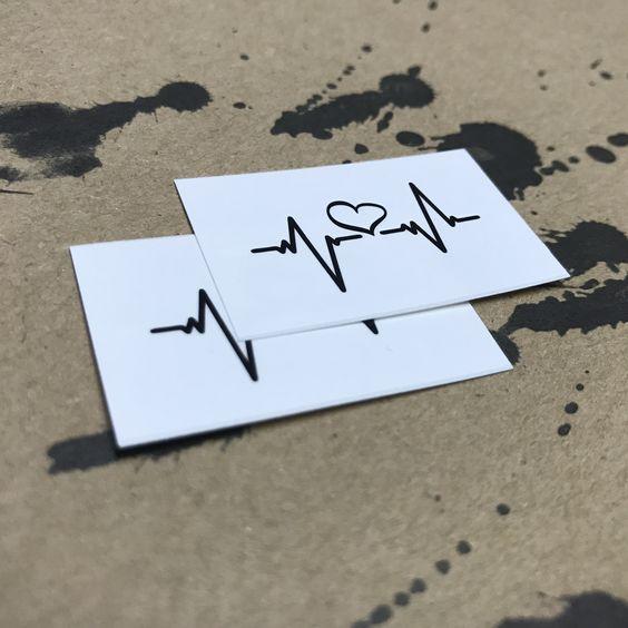 Heartbeat Temporary Tattoo