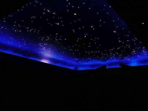 Fiber optic sky on ceiling from FOSI. Fiber optic sky on ceiling from FOSI   Teen girl night sky bedroom