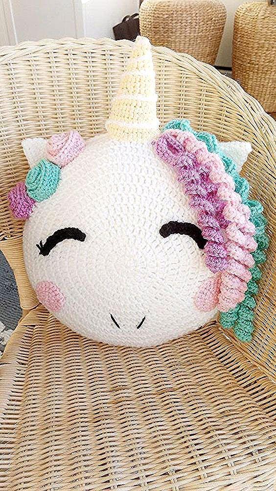 Hinweis Dies Ist Das Pdf Muster Nicht Das Fertige Produkt Das Muster Enthalt 11 Seiten L In 2020 Pillow Pattern Knit Crochet Unicorn Crochet Unicorn Pattern