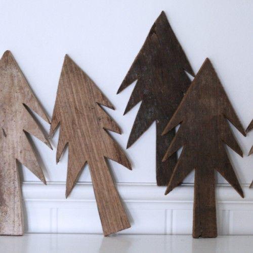 Arbres de no l graphisme and arbres de no l en bois on pinterest for Arbre de noel en bois truffaut