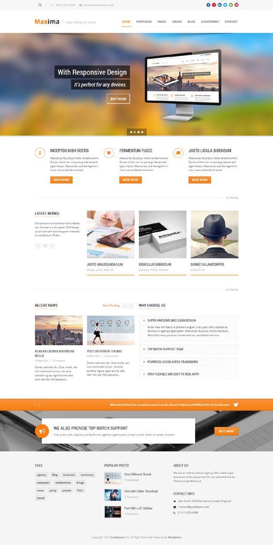 Maxima, WordPress Retina Ready Custom Business Theme
