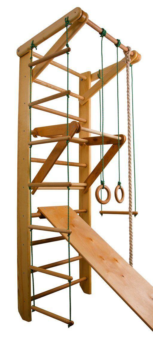 Elegant  uac FunnyClouds Kinder Kletterwand Piccolo Sprossenwand Turnwand Fitness Sportger t Kletterger st Holz Amazon de Sport u Freizeit Barn