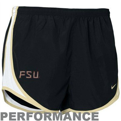 Nike Florida State Seminoles (FSU) Ladies Black Tempo Performance Shorts