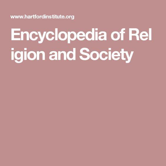 EncyclopediaofReligion  and Society