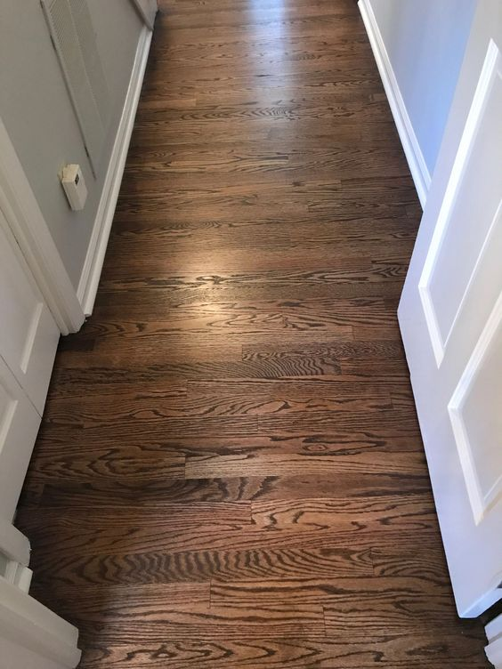How To Choose Flooring: Dark walnut stain